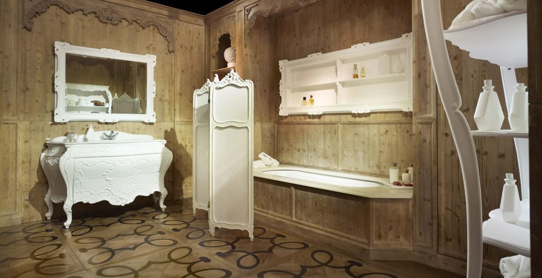 Salle De Bain Style Authentique Ma Sur Mesure Design Haut Gamme Baignoire Douche